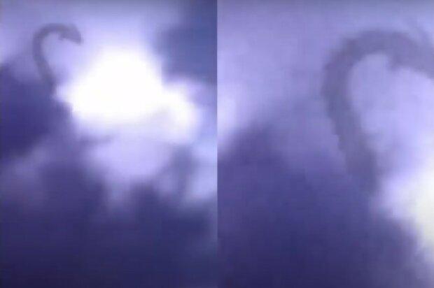 Pewna zjawa pojawiła się na niebie. Mężczyźnie udało się ją zarejestrować na wideo