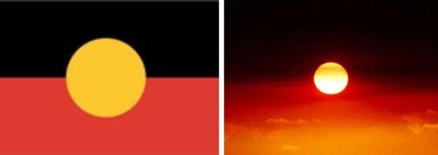 Pożary zamieniły australijskie niebo w aborygeńską flagę. Prawa część może wprawić w osłupienie
