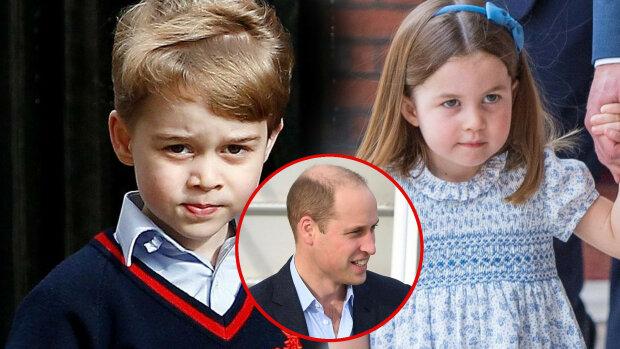 Książę George i księżniczka Charlotte kłócą się. Widać różnice charakterów pomiędzy dziećmi Williama