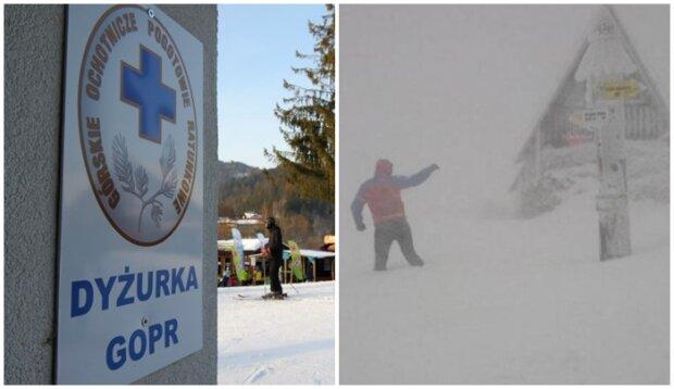 Bardzo ciężkie warunki w Bieszczadach. GOPR ostrzega turystów przed śniegiem