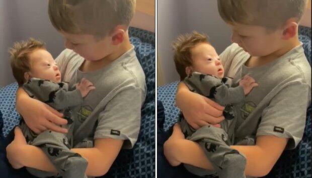 Wziął swojego chorego brata na ręce i zrobił coś, co wywołało łzy wzruszenia. Nagranie hitem w sieci