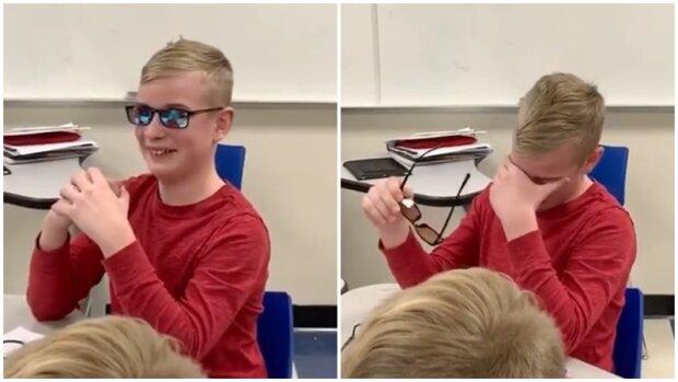 Całe życie nie widział kolorów. Kiedy założył te okulary, jego reakcja chwyta za serce [WIDEO]