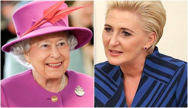 Agata Duda zachwyciła kreacją podczas spotkania z królową Elżbietą w Londynie