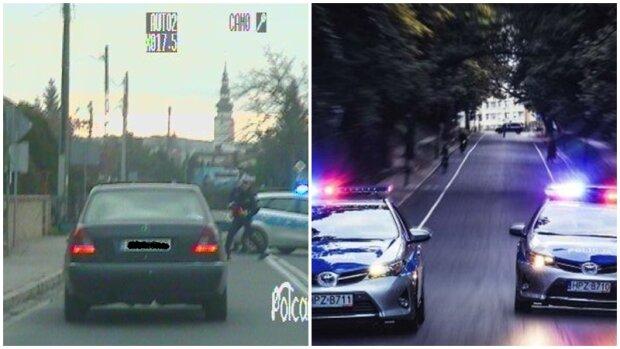 Sceny jak z filmu akcji. Trzykrotnie przekroczył dozwoloną prędkość, ominął blokady policyjne