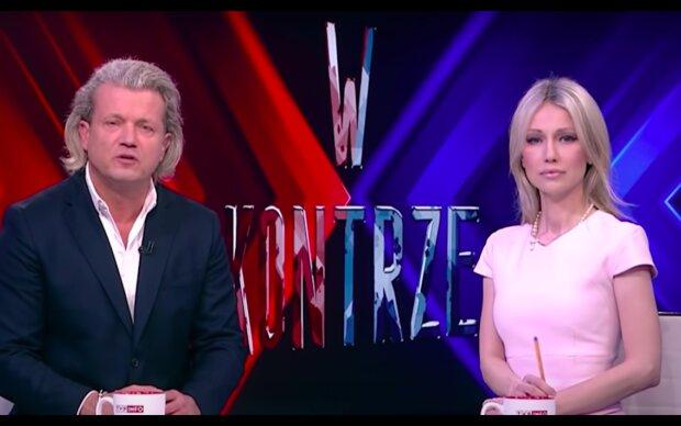 """Kadr z programu """"W kontrze"""" / YouTube:  TVP Info"""