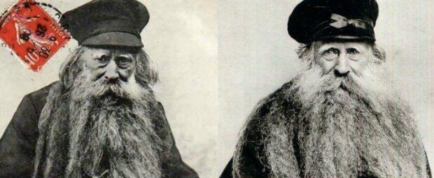 Louis Coulomb - mężczyzna z 3-metrową brodą, w której mieszkał kot