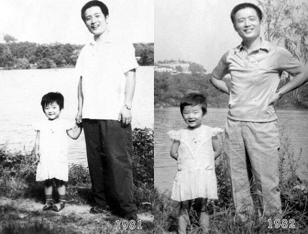 Ojciec i córka przez ponad 3 dekady robili zdjęcia w tym samym ujęciu. Ostatnie chwyta za serce
