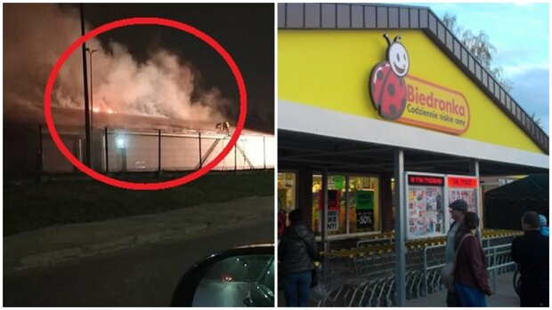 """Klienci i pracownicy uciekali w popłochu. Strażacy ratowali budynek sklepu ,,Biedronka"""""""