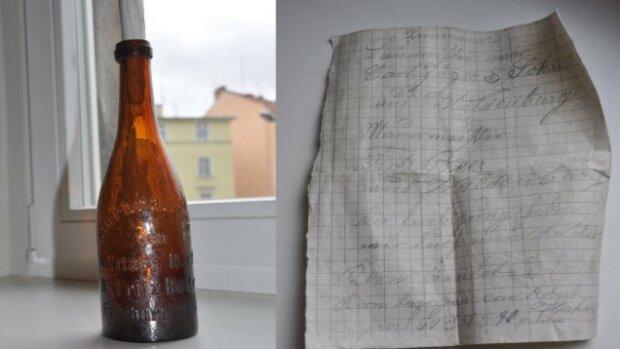 Niesamowite znalezisko w Zalewie Wiślanym. W butelce ukryta była historia sprzed latt