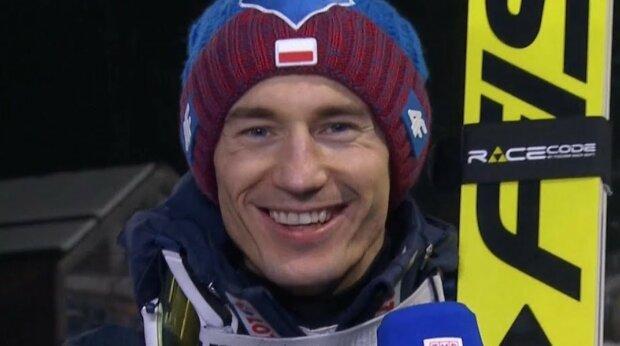 Kamil Stoch/screen Youtube @TVP Sport