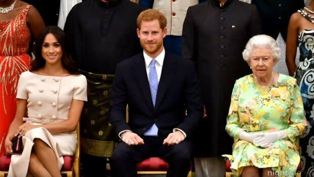 Książę Harry, Meghan Markle, królowa Elżbieta II/Youtube @ABC News