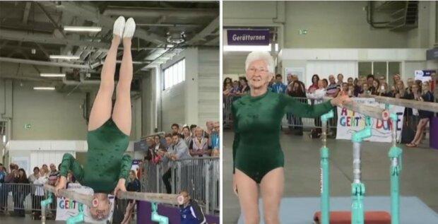 Najstarsza na świecie gimnastyczka oszołomiła widzów na festiwalu w Niemczech. W głowie się nie mieści co ona potrafi zrobić